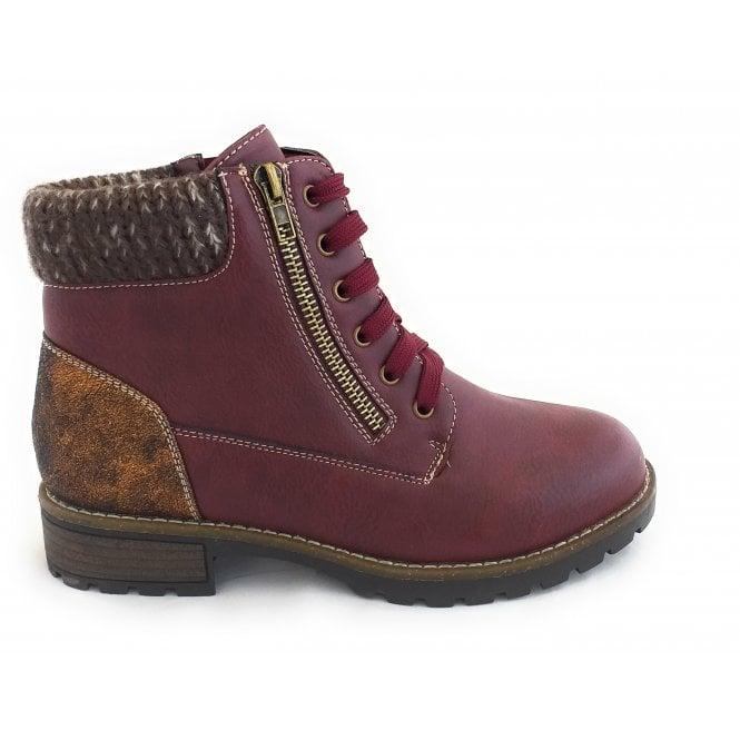 Lotus Emmeline Bordo Ankle Boots