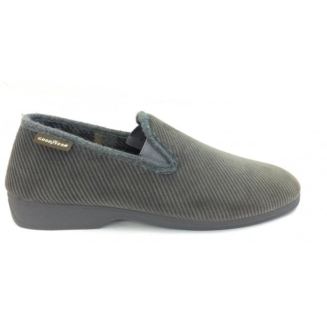 Goodyear Emmitt Grey Curduroy Slippers