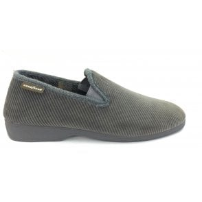 Emmitt Grey Curduroy Slippers