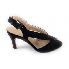 Endive Black Shimmer Sandal