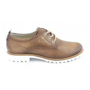 Enny 411-A2R02-4138 Taupe Print Leather Casual Shoes