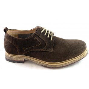 Ethan Brown Suede Lace-up Shoe