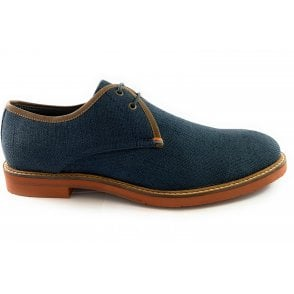 Evans Navy Canvas Lace-Up Shoe