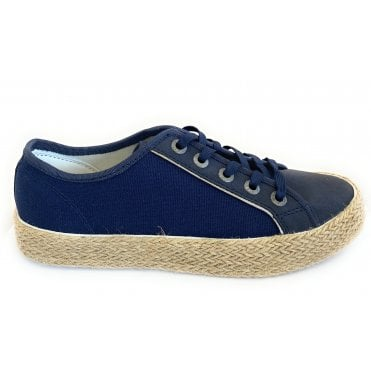 Eve 431-A2N01-5569 Navy Canvas Espadrilles