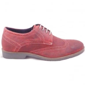 Everest Burgundy Greasy Suede Lace-Up Brogue