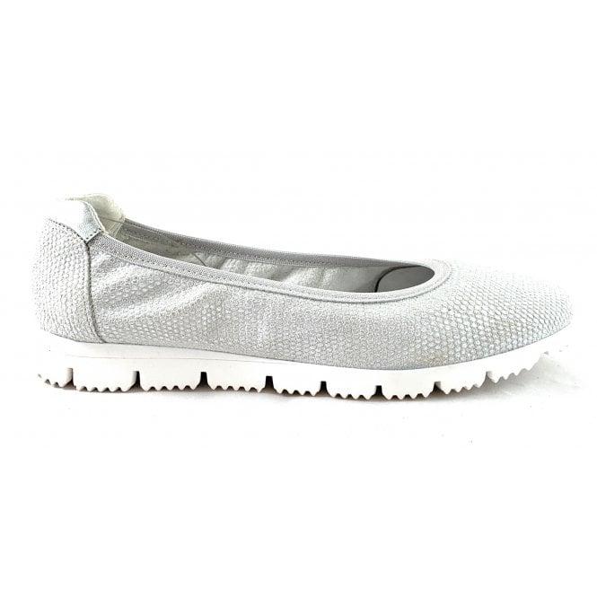Aeros F161 Severa Silver Print Leather Pump Shoe