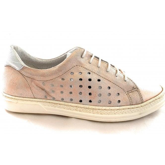 Aeros F761 Rose Gold Leather Lace-Up Shoe