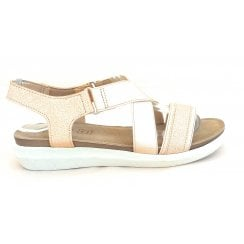 Fallon Gold Casual Sandal