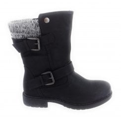 Farrin Black Mid Calf Boot