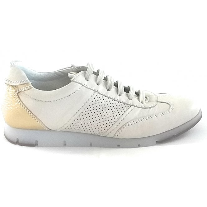 Aerosoles Fast N Furious Off White Leather Trainer
