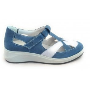 Fenix Blue Leather Casual Shoe