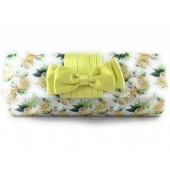 Fern Yellow Floral Clutch Bag