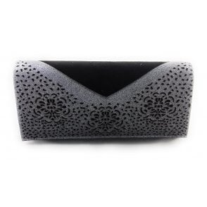 Fidda Black and Pewter Glitz Clutch Bag