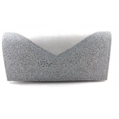 Fidda Grey and Pewter Glitz Clutch Bag