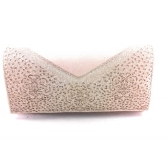 Fidda Natural and Gold Glitz Clutch Bag