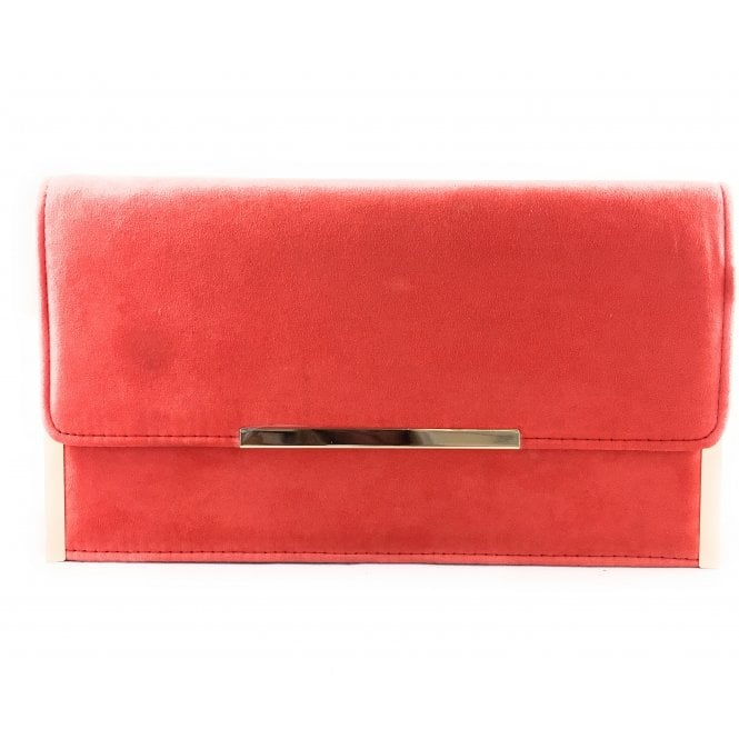 Lotus Flamina Coral Clutch Bag