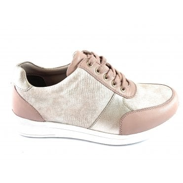 Florence Pink Leather Lace-Up Casual Shoe