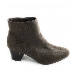 Flute Brown Print Ankle Boot