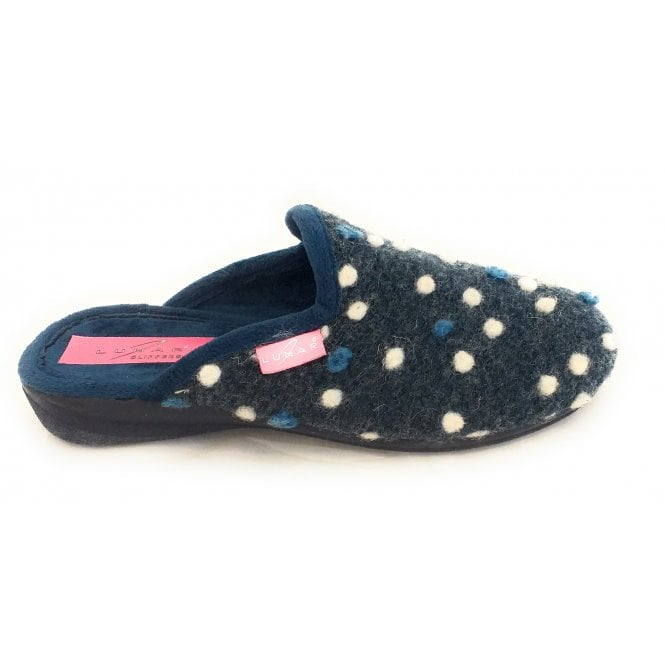 Lunar Foam Blue Felt Mule Slipper
