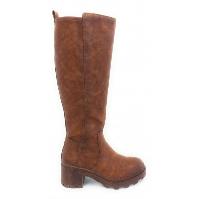 Bugatti Frieda Brown Leather Knee High Boots