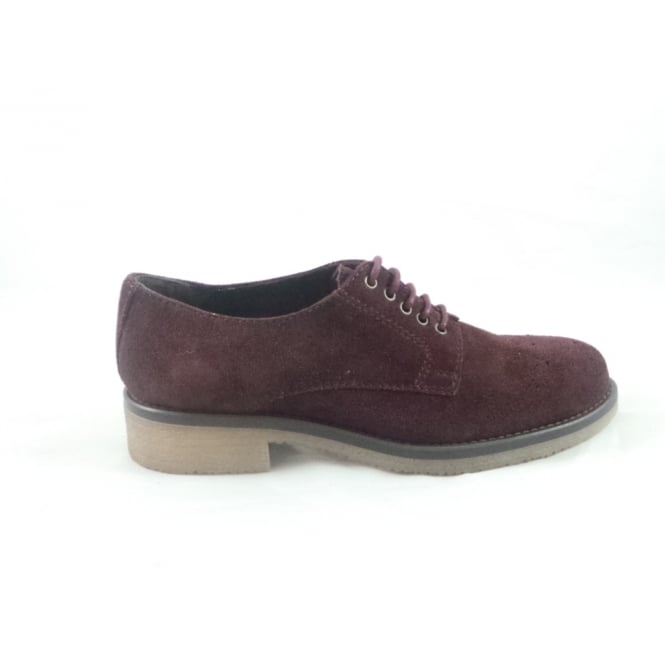 Aeros G099 Colomba Bordo Suede Lace-Up Casual Shoe