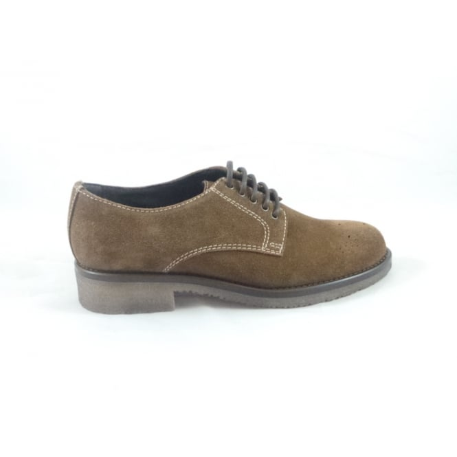 G099 Colomba Tobacco Suede Lace-Up Casual Shoe