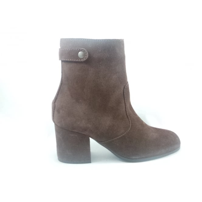 G361 Melita Chocolate Brown Suede Leather Ankle Boot