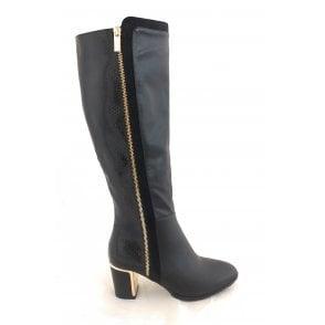 Gabrielle Black Knee High Boots