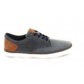 Gante 321-A3F02-6900 Mens Blue Canvas Shoes