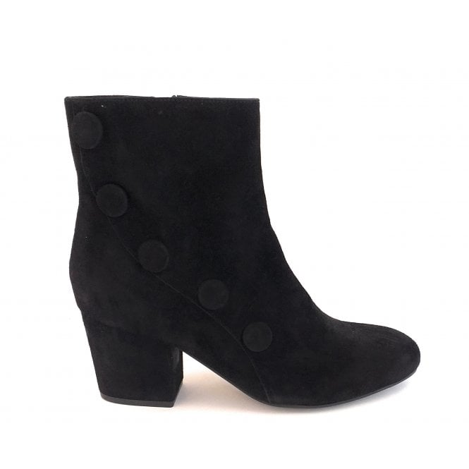 Lotus Georgina Black Suede Ankle Boot
