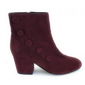 Georgina Bordo Suede Ankle Boot