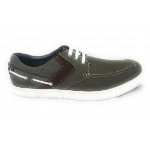 Gladstone Men's Khaki Green Canvas Lace-Up Shoe
