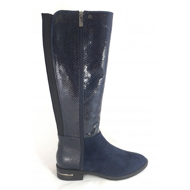 Lotus Glenda Navy Knee High Boots