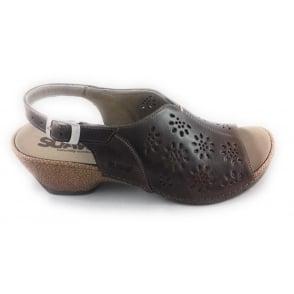 Gloria Brown Leather Sandal