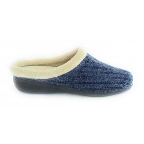 Glynis Blue Mule Slippers