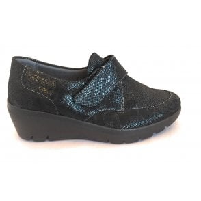 Granada Black Leather Casual Shoes