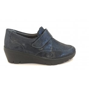 Granada Navy Shimmer Casual Shoes