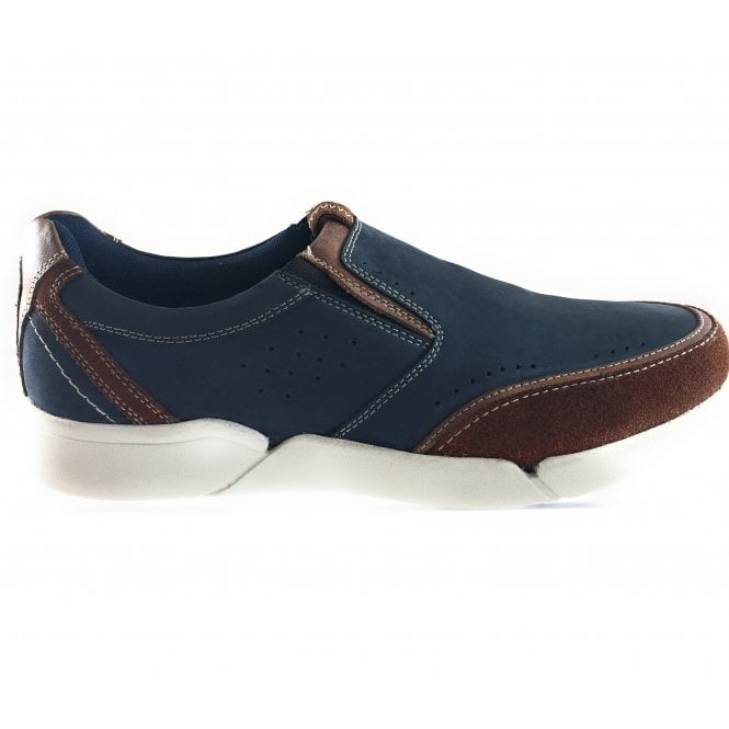 Lotus Grayson Navy Slip On Casual Shoe