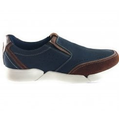 Grayson Navy Slip On Casual Shoe