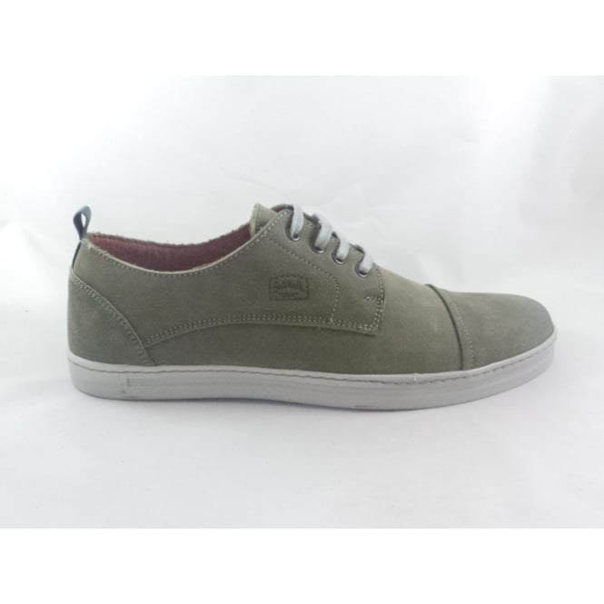 Softwalk Green Leather Lace-Up Casual Shoe