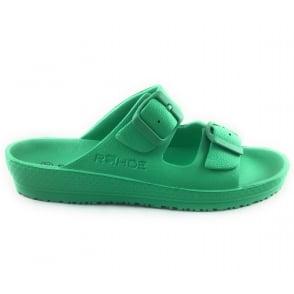 Green Mule Sandal