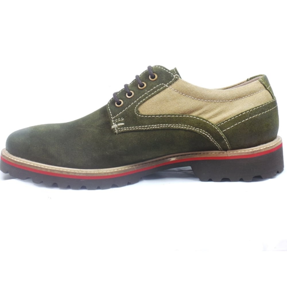 lotus green nubuck lace up casual shoe lotus from