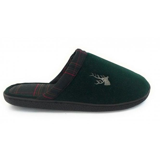 Lotus Green Rupert Mens Mule Slippers