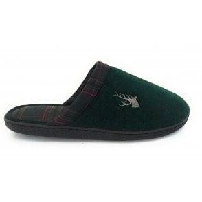 Green Rupert Mens Mule Slippers
