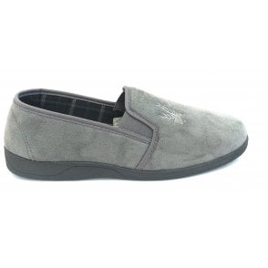 Grey Jack Micro-Suede Slippers