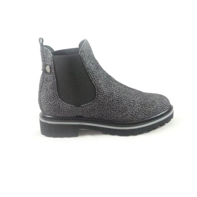 Aeros Grey Nubuck Print Chelsea Boot