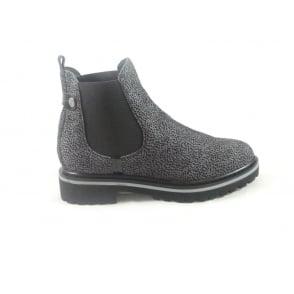 Grey Nubuck Print Chelsea Boot