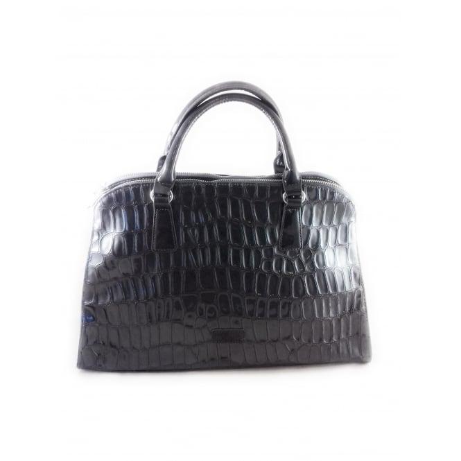 Marco Tozzi Grey Patent Croc Print Handbag