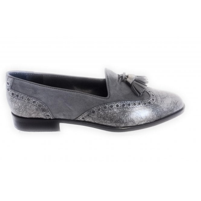 HB Grey Suede and Metallic Moccasin