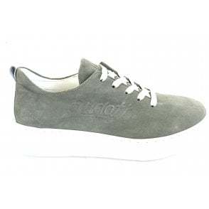 Groove 431-A2S02-3400 Light Green Suede Trainers